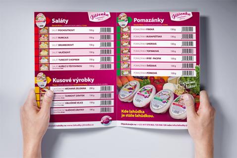 Lahůdky Jitřenka - prodejní leták // Packaging a etikety />Petr Šuba