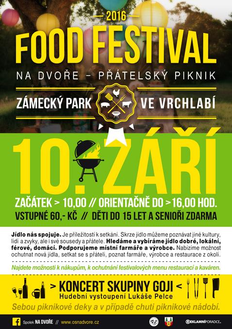 FOOD FESTIVAL NA DVOŘE 2016 - Zámecký park ve Vrchlabí